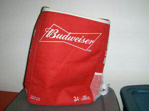 COLLECTIBLE BUDWEISER 24 CAN BACKPACK-SAC A DOS-USED-BEER