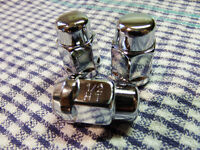 "3 Chrome Closed Bulge Acorn Wheel/Lug Nuts (12x1/2) 1.4"" Tall"