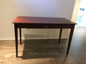 Desk with drop front keyboard tray