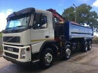 2008 58 Volvo FM 360 8x4 steel tipper, Epsilon E120L crane and grab, weigher