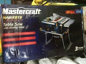 Hawkeye Laser table saw with sliding table with telescopic exten