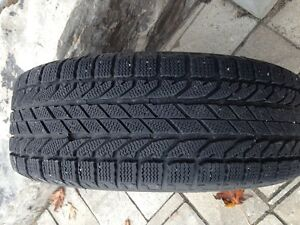 215/60/16 bfg winter slalow snow tires with steel rims