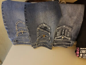 Three pairs of capri jeans size 11 $20 a piece