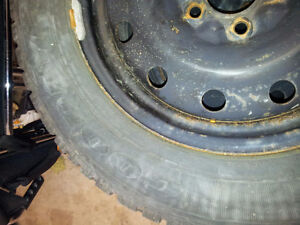 215 65 16SNOWS ON RIMS  DODGE CARAVAN 2004 ??? CALL FOR FITMAN Kitchener / Waterloo Kitchener Area image 2