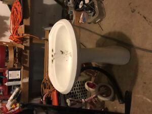 """Pedestal sink 26"""" wide"""