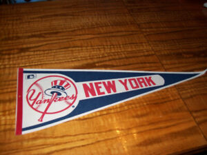 Sports Memorabilia Pennants Vintage New York Yankees MLB