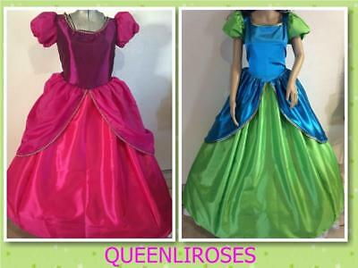 Drizella & Anastasia Cinderella StepSisters Costume Dress Adult Your Size Choice
