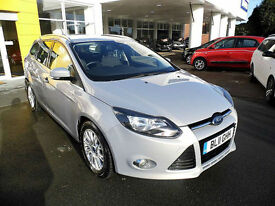 2011 Ford Focus 1.6TDCi Titanium**DIESEL ESTATE**SATNAV**FSH**LOW MILES**£20 TAX