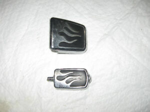 BRAKE AND SHIFTER FLAMED PEDALS DYNA-SPORTYS