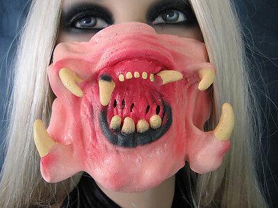 ator Zähne Fangzähne Effekt Mund Maske Latex Dracula Vampir (Alien Maske)