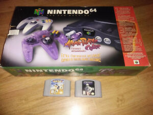Boxed Nintendo 64 with 2 Controllers and 2 Games