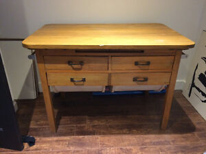 Antique possum belly bakers table