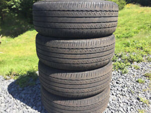 Four P215/55R17 Summer Tires Excellent Tread