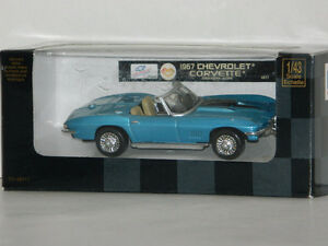 New Ray 1/43 Scale 1967 Chevrolet Corvette Diecast Car Blue