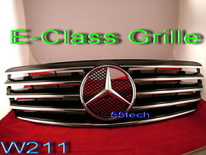 Mercedes W211 Grill E320 E500 Grille Mb Flat Hood Emblem