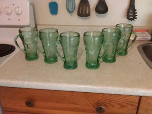 6 coke glass cups Belleville Belleville Area image 1