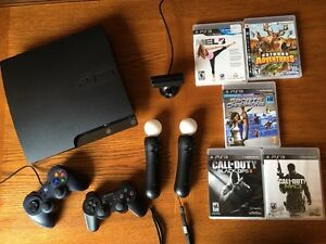 PlayStation 3 Slim 320GB with Move and Games