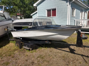 Boat, motor and trailer. Needs work $650