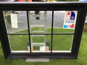 "BLACK  CASEMENT WINDOW - NEW . 50"" X 35"""