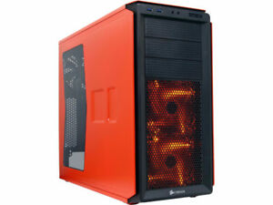 Orange Corsair Computer Case