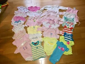 Baby Girl Newborn to 6 months Clothing Lot