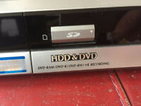 Panasonic DVD Recorder with HDD and SD card DMR-EH50, incl remote control and leads