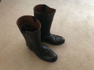 Wellington Mens Black Leather Military Mess Boot Size 10 $100