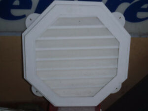 "4-18"" White Octagon Gable Vents"