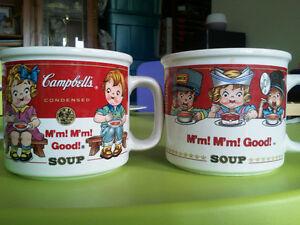 Campbells collectible soup bowls.