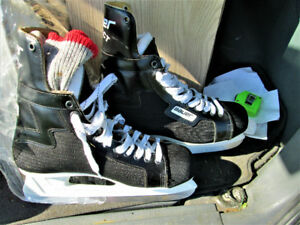 $800 for $75 Bauer Super Steel Superfeets Pro Hockey skates