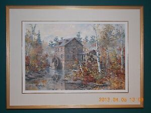 Original Oil Painting by James L. Keirstead – Misty Morn