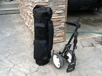 Left hand Golf clubs with bag & cart