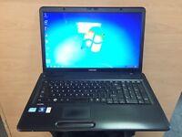 "Toshiba i3 Fast 17"" HD Laptop, 4GB, 250GB (Kodi) Windows 7, Microsoft office,Excellent Condition"