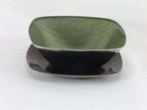 Catherine Holm (Norway) Metal Dish and Saucer