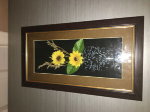 3D picture of flowers in vase