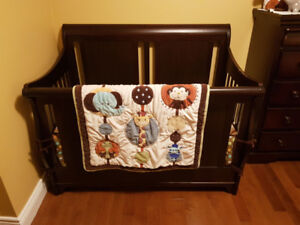 Bedding  for a crib and accessories