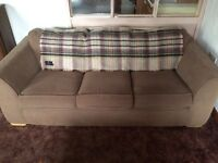 3 seater sofa good condition. Beige. Smoke free home. £50