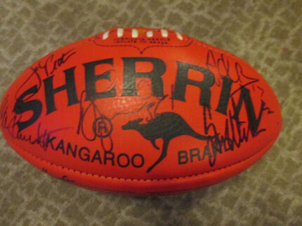 Signed Brownlow Medal Football Sherrin Pascoe Vale South Moreland Area Preview