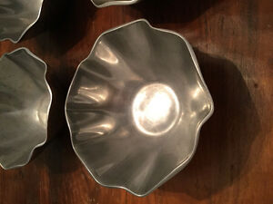 6 ZODEX METAL SERVING/DECORATIVE BOWLS