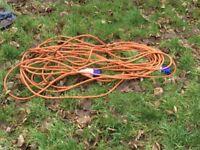 Camper van or caravan hook up cable