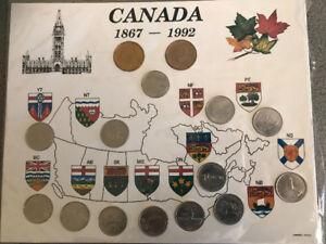 Pièces de monnaie et token pont Champlain