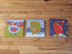 3 pictures for kids room