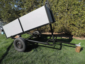 dump trailer and 3 stage hydraulic cylinders