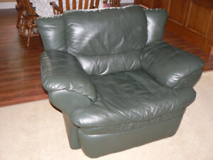 Full Leather Couch and Chair