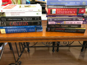 Math, accounting and business university textbooks and guides