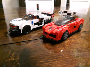 Lego Ferrari and Audi R8