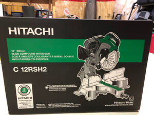Hitachi 12-inch 15-Amp Dual Bevel Slide Laser Compound Mitre Saw