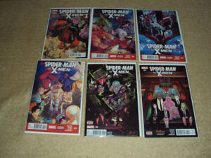 SPIDER-MAN AND THE X-MEN #1 - 6, COMPLETE SET, MARVEL COMICS, NM