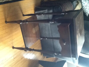 Two antique wood side/decorative table/night stand Peterborough Peterborough Area image 1