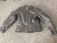 Ladies frank Thomas 'lady rider' leather motorbike jacket